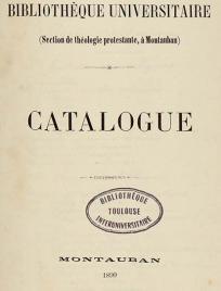 Catalogues de bibliothèques toulousaines