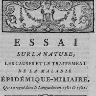 Essai sur la nature, les causes et le traitement de la maladie épidémique miliaire...(Toulouse, 1786)